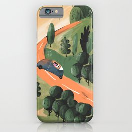 Road Trip in Tuscany Countryside iPhone Case