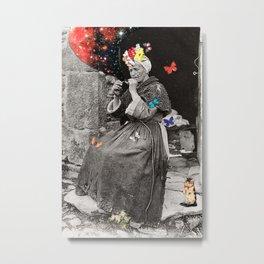 Smoking Woman Metal Print