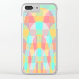 Multicolor wave Clear iPhone Case