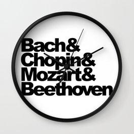 Bach and Chopin and Mozart and Beethoven Wall Clock