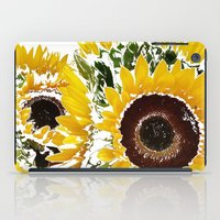 sunflowers iPad Cases featuring Sunflowers by Regan's World