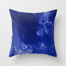 Watercolor wash - dark blue  Throw Pillow