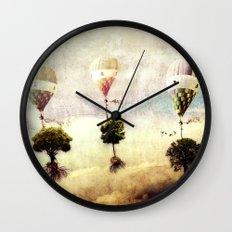 tree - air baloon Wall Clock