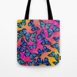 Cool Monarchs at Sunset Tote Bag