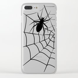 Spider and Web Clear iPhone Case