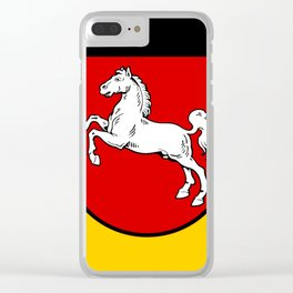 Flag of Niedersachsen (Lower Saxony) Clear iPhone Case