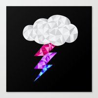 bisexual Canvas Prints featuring Bisexual Storm Cloud by Casira Copes