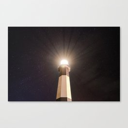 Tybee Lighthouse Under the Stars Canvas Print