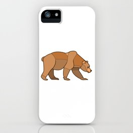 Shapely Brown Bear iPhone Case