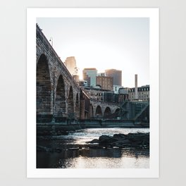 Minneapolis Minnesota Skyline Sunset Art Print