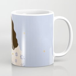 Dreams and Flowers Blue Coffee Mug
