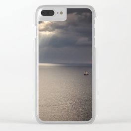 Ship on the Sea Clear iPhone Case