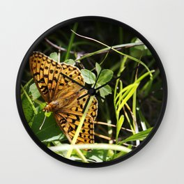 Butterfly at Signal Mountain Wall Clock