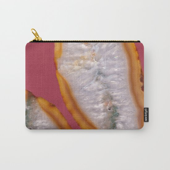 Agate Translucent #Yellow #Orange #4 #decor #art #society6 Carry-All Pouch