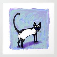 Cat Tocks Art Print