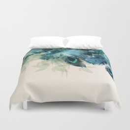 Beautiful Peacock Feathers Duvet Cover