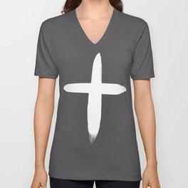 Watercolor Cross II Unisex V-Neck