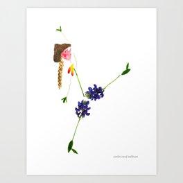Blue Bonnet Sue Art Print