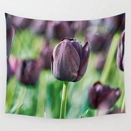 Black Tulip Wall Tapestry