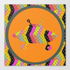 colorful pattern and ufo 2 Canvas Print
