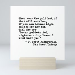 Epigraph - The Great Gatsby - Fitzgerald quote Mini Art Print