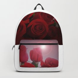 Red roses bouquet - Valentine roses Backpack