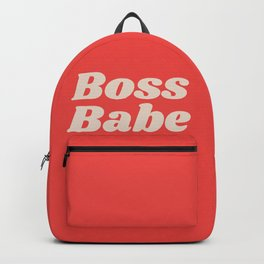 Retro Boss Babe - Coral Backpack