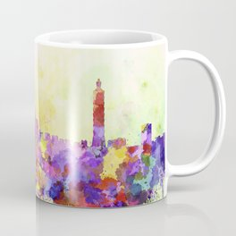 Taipei skyline in watercolor background Coffee Mug