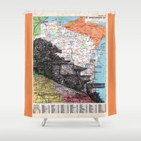 wisconsin Shower Curtains featuring Wisconsin by Ursula Rodgers