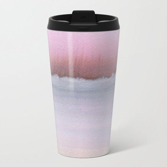 Pastel Horizon Metal Travel Mug