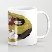 attack on titan Mugs featuring A Nap on Titan by crowry