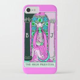 2. The High Priestess- Neon Dreams Tarot iPhone Case