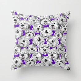 Shaggy pups Throw Pillow