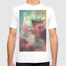 The Fiscal Cliff MEDIUM Mens Fitted Tee White