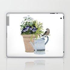 Pansies in a pot Laptop & iPad Skin