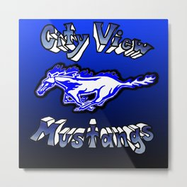 City View Mustangs Metal Print