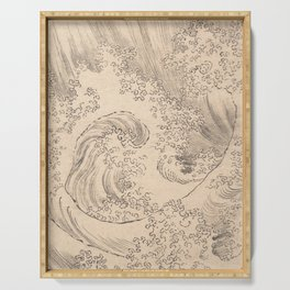 Wave by Katsushika Hokusai 1760–1849, Japanese Serving Tray