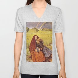 John Everett Millais - Blind Girl Unisex V-Neck