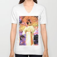 angels V-neck T-shirts featuring Angels by Saundra Myles