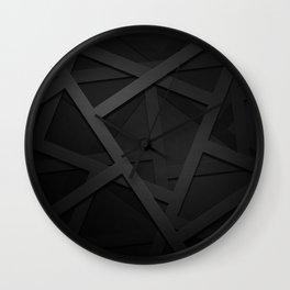 Black Web Wall Clock