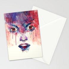 Um rosto aquarelável Stationery Cards