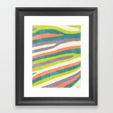 Fruit Stripes. Framed Art Print