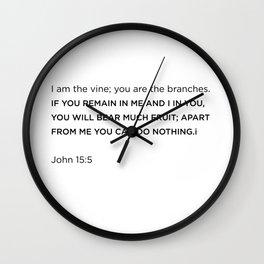 John 15:5 Wall Clock