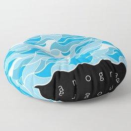 Oceanography Floor Pillow