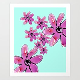COTTON CANDY FLORAL Art Print