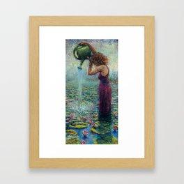 Thirsty Water Lilies Framed Art Print