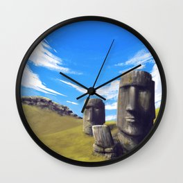 Rapanui Wall Clock