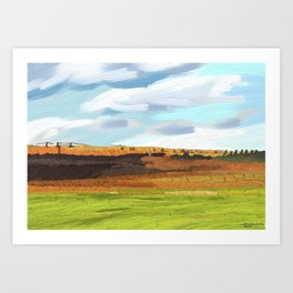 Farming Plain Art Print