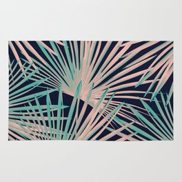 Tropical Fan Palm Leaves #5 #tropical #decor #art #society6 Rug