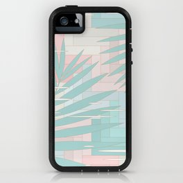 Summer Mood with Chevron and Palms iPhone Case